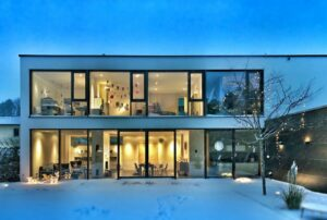 A Modern Home with Smart Home Automation Installed