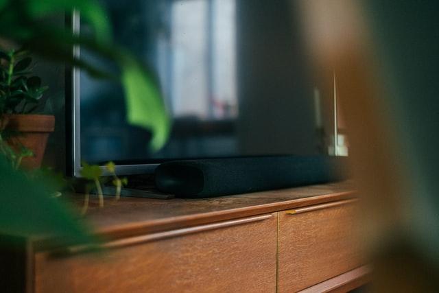 A home theater installation soundbar in a Bethesda MD home