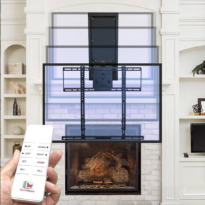 MantelMount offers a remote controlled television mount through authorized dealers